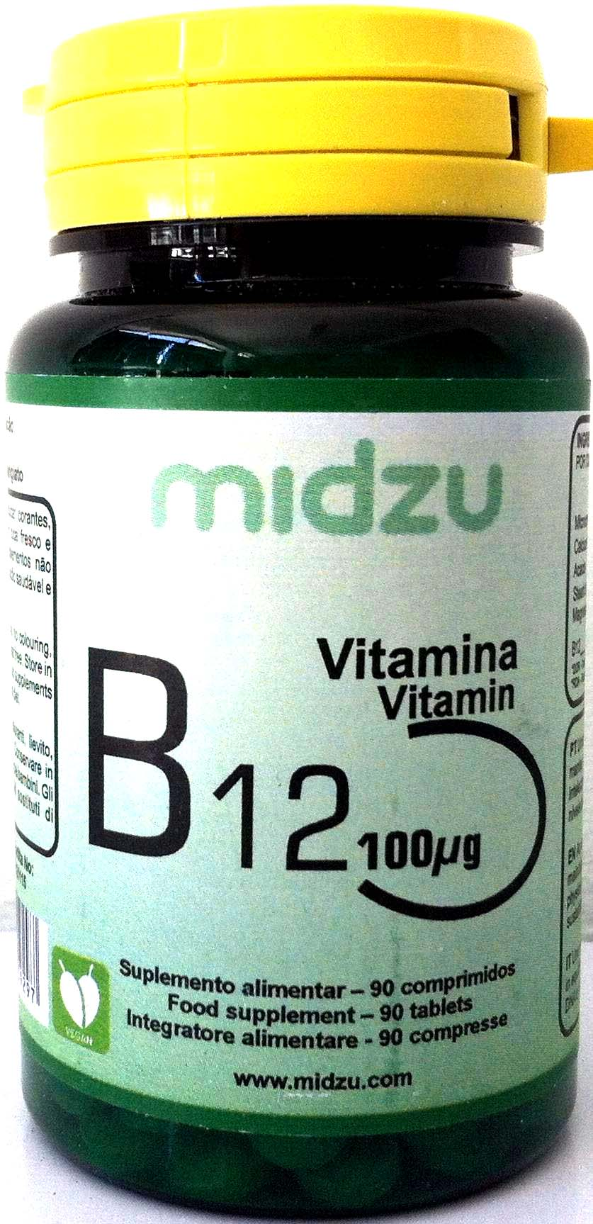 vitamina B12 vegan